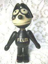 "Vintage Schoenhut Felix The Cat Wood Segment Figure Leather Ears 5"" Tall Stands"