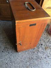 Vintage Dovetailed Wood Microscope Box