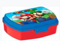 Super Mario LUNCH BOX scatola colazione porta PRANZO MERENDA sandwich scuola