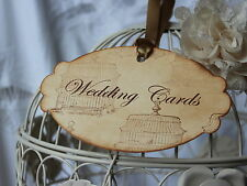 WEDDING CARDS-Sign-Tag-Label-Vintage Birdcage-Beautiful-Unique-Vintage Style