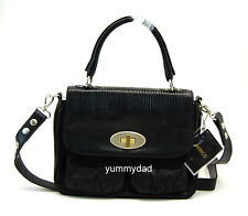 MIMCO ELEMENT SATCHEL LEATHER BAG IN BLACK BNWT RRP$450