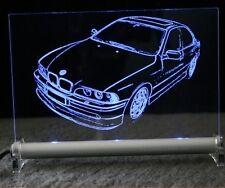 BMW E39 limousine  als  AutoGravur auf LED-Leuchtschild