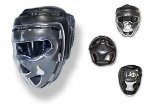 Kopfschutz Shield, Ju Sports, Kunstleder mit Plexi-Visir. Wing Tsun, SV, Escrima
