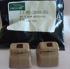 New Genuine JAGUAR XJS SUNVISOR SUPPORT CLIPS brackets HMD1084AAAFW BARLEY