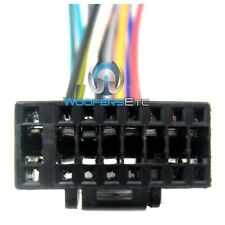 ALPINE BLACK WIRE HARNESS 16 PIN CAR STEREO CD RADIO PLAYER POWER SPEAKER PLUG