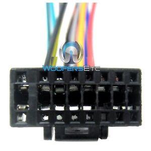 ALPINE BLACK WIRE HARNESS 16 PIN CAR STEREO CD RADIO PLAYER POWER SPEAKER PLUG
