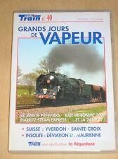 RARE DVD DOC / MEDIA TRAIN / GRANDS JOURS DE VAPEUR / 86 MNS / TRES BON ETAT