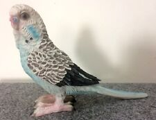 Periquito 17cm Azul Deco Figura Pájaro Lujo Recuerdos Regalo Desván Chalet