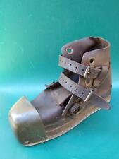Antique Genuine Deep-Sea Diving Boot Leather & Bronze Cup C.1900 RARE!