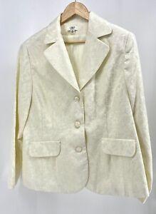 Cato Woman Size 16 Formal Blazer White Gold MINT (A7-797)