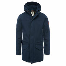 VGC TIMBERLAND MENS FISHTAIL WATERPROOF NAVY PARKA STYLE A1AIQ433 RRP £360