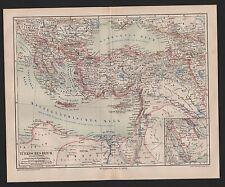Landkarte map 1878: TÜRKISCHES REICH. Türkei, Maßstab: 1 : 10.000.000