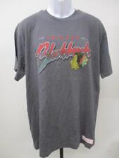 New Chicago Blackhawks Mens Size L Large Grey Mitchell & Ness Shirt MSRP $35