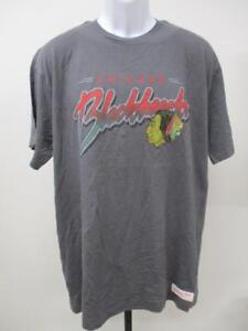New Chicago Blackhawks Mens Size L Large Grey Mitchell & Ness Shirt MSRP $35