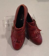 Women's Joan & David 7 1/2 Med Brown Leather Loafers