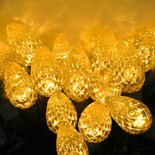 50 count C 6 LED Christmas Light String Yellow Color