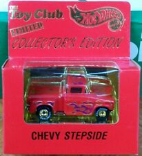 HOT WHEELS TOY CLUB LIMITED COLLECTOR'S EDITION RED CHEVY STEPSIDE, SUPER NICE!