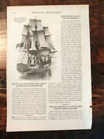 1932 Large Model of HMS Kent British Navy Sailing Ship for Celebration Britain