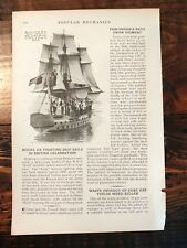 1932 Large Model of HMS Kent British Navy Sailing Ship for Celebration Britain