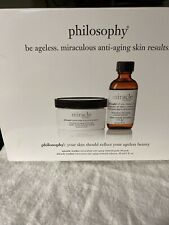 NEW Philosophy MIRACLE WORKER Anti Aging Retinoid Pads 60 & Solution RETIRED HTF