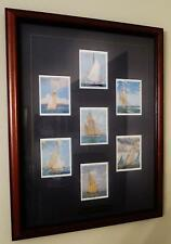 1987 REPRINT RACING YACHTS CIGARETTE CARDS JOHN PLAYERS & SONS FRAMED 18 X 14