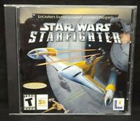 Star Wars Starfighter Lucasarts  - PC Game CD ROM Disc, Case Mint Disc