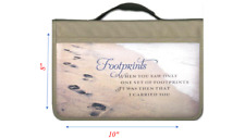 Footprints Canvas Large Bible Cover  by Zondervan Publishing Brand New