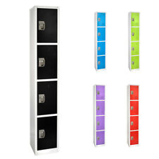 AdirOffice Steel 4 Door Compartment Key Lock Office Gym Storage School Locker