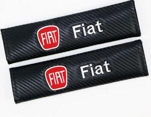 Car Seat Belt Cover Shoulder Pads Cushion For Fiat Embroidered Carbon Fiber