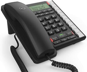 BT Converse 2300 Corded Telephone Black - with RJ11 Headset port