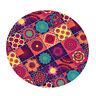 Large Elastic Edge Fitted Round Tablecover Table Pad~Flower Dia 1.2m