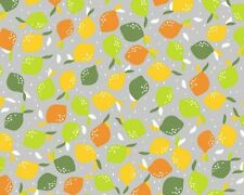 100% Cotton Lemons & Limes Fabric By the Metre or Half Metre
