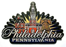 Philadelphia Pennsylvania Sunburst Fridge Magnet