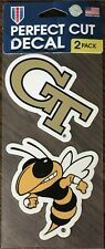perfect cut decal  georgia tech 2 pack college football