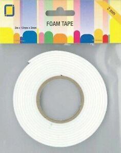 JeJe Double-Sided Foam Tape Roll   - 2mm x 12mm x 2m