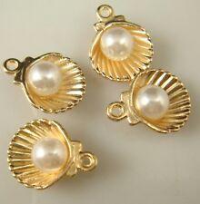 4pcs DIY Lot shell pearl Metal Charm Pendant Necklace Bracelet earring Jewelry n