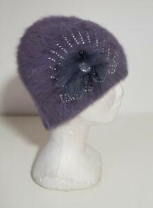 Chapeau cloche - Souple - Gris bleu - T55 - Neuf sans étiquette