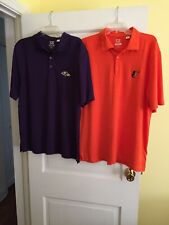 Lot Of 2-Baltimore Ravens & Orioles Golf Polo Shirts Mens Large Cutter & Buck