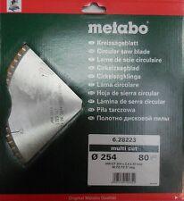 Metabo Kreissägeblatt KGS 254 HW/CT 254x30x2,4 multi cut FZ/TZ, 5° neg. 80 Z