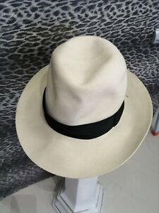 borsalino hat fedora  fur felt superiore (85) 100%genuine   7-56