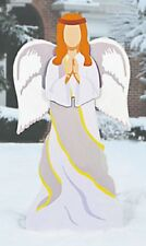 "Large Nativity Angel Garden Stake Metal Outdoor Christmas Yard Art 44""H x 20""W"