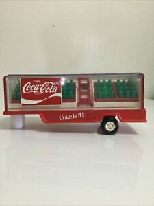 BUDDY L Vintage COCA COLA Mack Tractor Trailer ONLY Truck Toy  W/ Cases!
