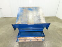 Vestil  Hydraulic 4000 LB Lift Tilt Table Tilts 45° Box Pallet Skid Tipper 3PH
