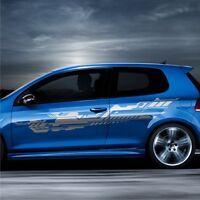 2x Design Future 230x40cm Grafik Seitenaufkleber Auto Aufkleber Tuning Folie S39