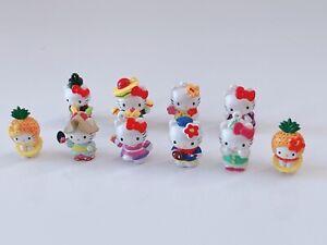8x Mini Hello Kitty Dolls Figure Statue figure Miniature Toy Pot Decorations