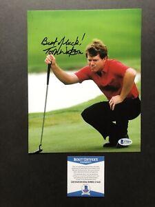 Tom Watson autographed signed 8x10 photo Beckett BAS COA Golf Legend PGA INSREM