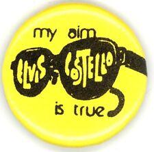 Elvis Costello Original 1977 My Aim Is True Tour / Album Stickback Button Pin