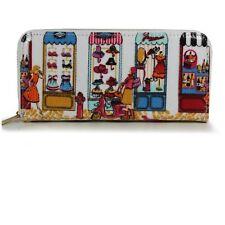 Antique shop print zip round purse