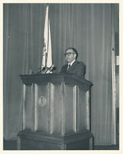 Philip Habib - Photograph of the Diplomat Speaking at the Naval War College 1975