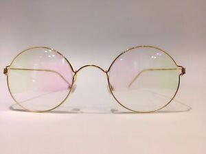 Air Rim Titanium Frames Glasses eyeglasses LARS VON TRIER (golden frame)